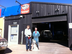 I am standing with David Volo outside his business Werribee Motor Tuners, David Serviced my car today. My Siberian Husky name is Zara,